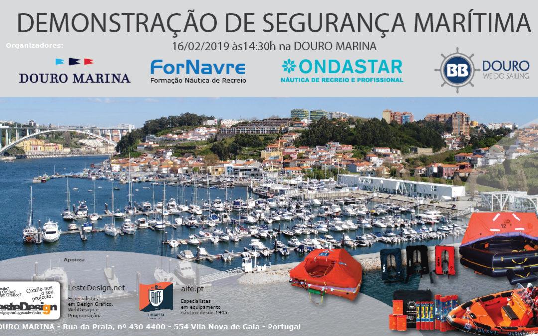 Demonstração de Segurança Marítima – 16 de Fevereiro às 14.30 na Douro Marina